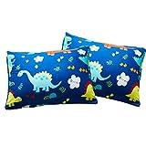 MacoHome Dinosaur King Pillowcase Blue Animal Pillow Case Cartoon Pillow Cover (Dinosaur, King Size 20'x 36')
