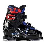 K2 Indy-2 Botas de esquí, Niños, Negro, Azul y Rojo, Mondo: 19.5 (EU: 32 / UK: 12 / US: 13)