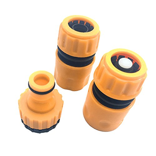 Sharplace Set 3pcs Accoupleur Double Mâle Tuyau d'eau Connecteur Montage Hosepipe