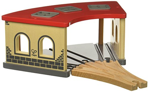 Hape E3704 Big Engine Shed - Wooden Train Track Accessories
