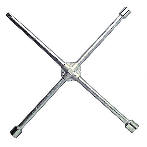 Cle en croix renforcee pour VL douilles 17 - 19 - 21 mm