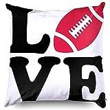 Ruthxiaoliang Football taies d'oreiller, taie d'oreiller, taie d'oreiller Housse de Coussin Football Vecteur américain Ballon Rugby Silhouette équipement de compétition