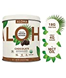 ALOHA Organic Chocolate Plant Based Protein Powder with MCT Oil, 19...