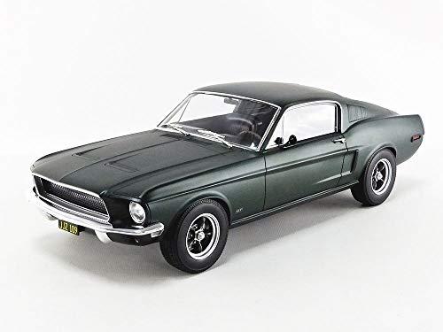Norev 1968 Ford Mustang Fastback Satin Green Metallic 1/12 Diecast Model Car 122702