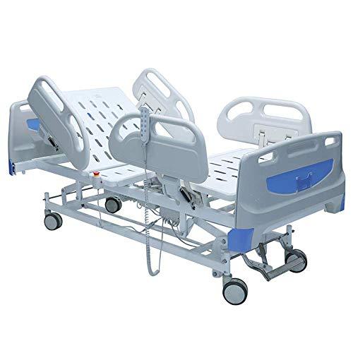 BLH-JMJ Cabezal de Cama de ABS Cama de Hospital de función Completa, Cama Multifuncional eléctrica Inteligente Cuidado Diario, Totalmente Ajustable, Ruedas de Transporte fáciles