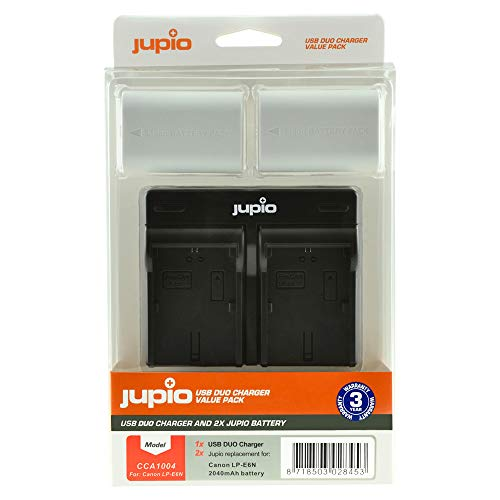 Jupio Carregador + 2x Bateria LP-E6N Ultra Edition 2000mAh