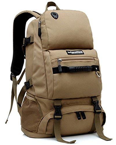 Travel Backpacks Sac à Dos de Voyage Léger étanche 40L Sac à Dos pour Outdoor Hikig Voyage D'Escalade Camping Moutaineering, Kaki