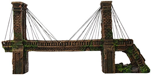 Penn Plax Medium Brooklyn Bridge For Fish Tank Aquarium Decoration