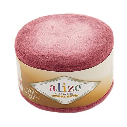 20% lana 80% acrílico suave Alize Angora Gold Ombre Batik 1skn 150gr 902yds hilo ganchillo hilo de tejer a mano hilo turco (7247)
