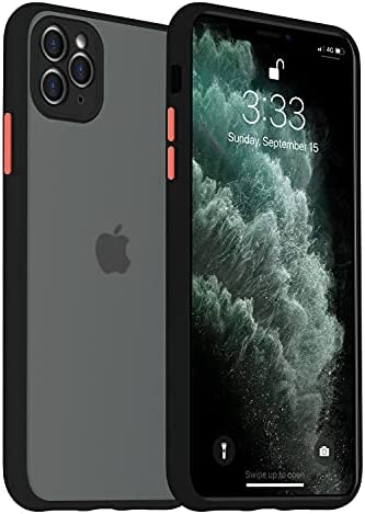 PIGLULOO iPhone 11 Pro Max Case Skin Texture Case for iPhone 11 Pro Max 5G Model Black