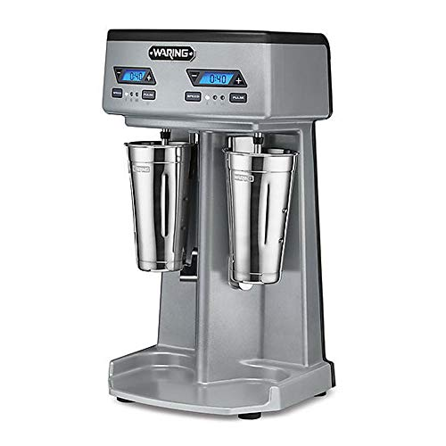 Waring Commercial WDM240TX Heavy-Duty Double Spindle Drink Mixer, Each Spindle Has Independent 1hp...