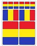 Biomar Labs® 10pcs Pegatina Bandera de Rumania Romania Flag Vinilo Adhesivo Coches Cascos Motos Ciclomotores Bicicletas Ordenador Portátil D 34