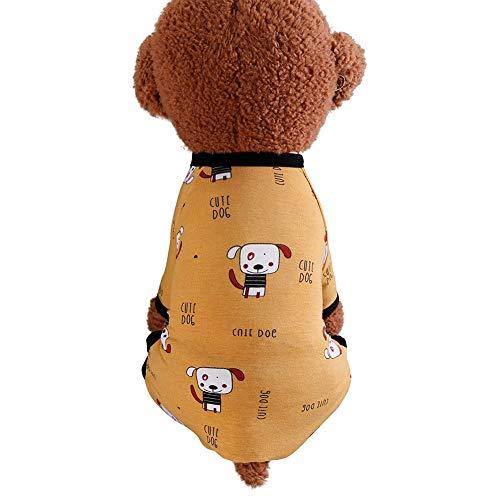 Aesyorg Haustier vierbeiniger Hausdienst Schöner einteiliger komfortabler klimatisierter Schlafanzug für Hunde