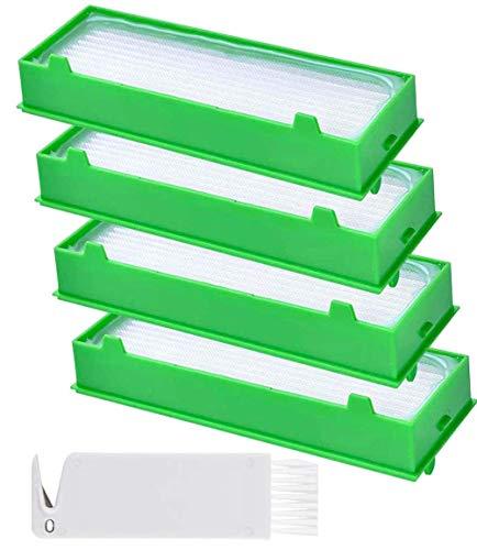 PIÈCES DE RECHANGE POUR LA MAISON - Filtres de rechange Vorwerk Kobold VR200 VR300, Kit 4 filtres pour aspirateur sans fil, Série.