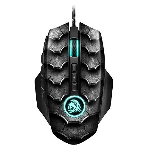 Sharkoon Drakonia II Gaming Maus, optischer Sensor PixArt 3360, 15.000 DPI, 12 programmierbare Tasten, schwarz