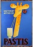 Cartel de pared de hojalata Pastis, señal de advertencia, placa de hierro Retro de Metal, pintura, decoración artística para el hogar, Pub, oficina30x40cm