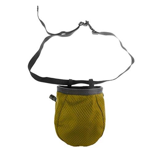 Gazechimp Bolsa Cilíndrica con Magnesio para Escalada con Cinturón Cordón Accesorio Deportivo - verde