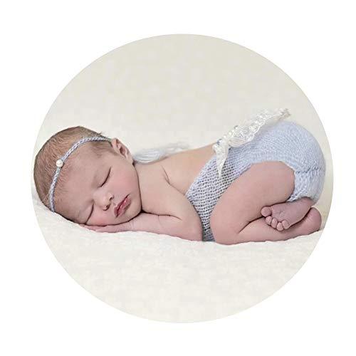 HUDEMR Trajes De Fotografía Accesorios for fotografía de bebé Niña Chaleco recién Nacido Lindo Imágenes Ropa Trajes de sesión de Fotos mensuales Azul Rosa para bebé (Color : Pink, Size : S)