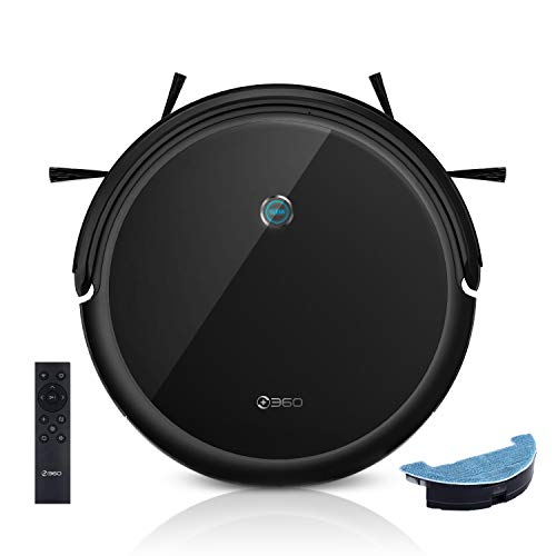 360 C50 Robot Vacuum and Mop, 2600 Pa, Zigzag Cleaning, Scheduled Cleaning, Edge, Spot, Deep Cleaning, Works with Alexa and Google Assistant