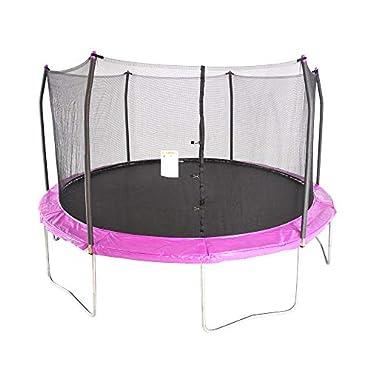 Skywalker Trampolines 15 Foot Round Outdoor Trampoline with Enclosure, Purple