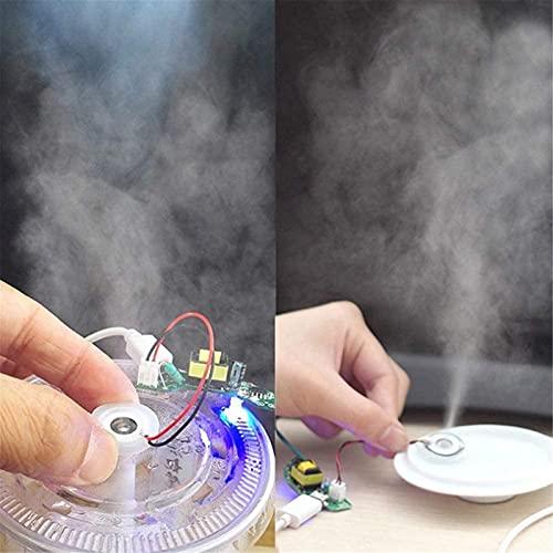 Juego de Platos, 16mm 1.5-3W Transductor de hidratación de Bricolaje Mistola de la Niebla del atomizador Accesorios de la Placa de película del humidificador ultrasónico Junta de Goma Millipore, Euro