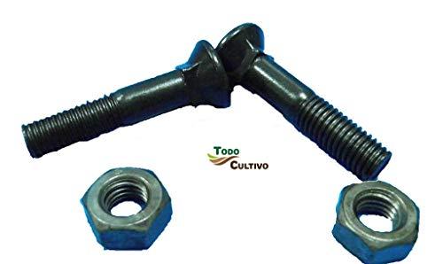 Tornillo de Arado 12X50 DIN 608. Caja 50 Uds. Tornilleria de máxima calidad marca San Lorenzo, con cabeza avellanada especial rejas de arado.