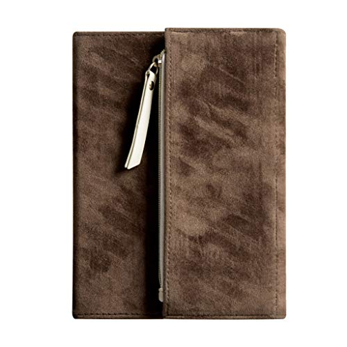 unknows Marginf Notebook, B6 Innovador Cuaderno de Tres Pliegues Diario de Gamuza Bloc de Notas Planificadores de Diarios de viajeros