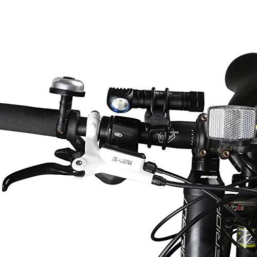 Olight FB-1 Universal Fahrradhalterung für Taschenlampe mit max. Durchmesser. von 10 mm bis 35 mm, Ideal für das Radfahren, verstellbare, Flexible, elastische Halterung - 7