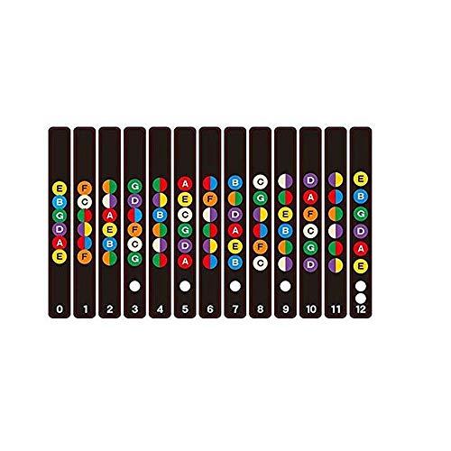 2 ST Gitaar Leren Decals, Gitaar Fretboard Note Decals Vingerbord Frets Kaart Sticker voor Beginner Learner Praktijk Fit 6 Snaren Akoestische Elektrische Gitaar