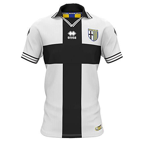Parma Calcio 1913 Par01, Gara Home Trikot für Herren, kurzärmlig, Schwarz/Weiß, S