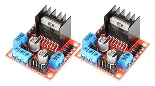 TECNOIOT 2pcs L298N Driver Board L298 Stepper Motor Drive Controller Module Dual H Bridge