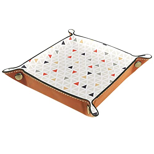 Moderno colorido triángulo patrón-01 para almacenamiento bandeja de café Catchall