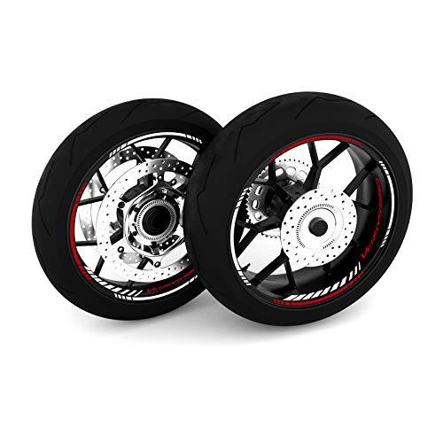 Motostick Graphics Adhesivo para rueda compatible con Kawasaki Versys 650 'Strike 4' (rojo)