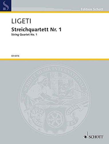 Streichquartett Nr. 1: Métamorphoses nocturnes. Streichquartett. Partitur und Stimmen. (Edition Schott)