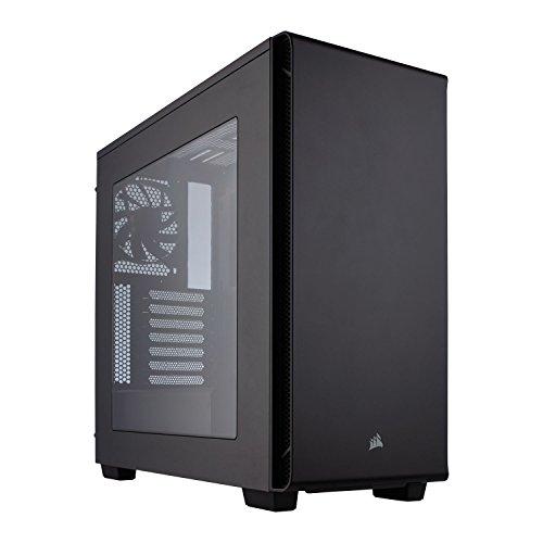 Corsair Carbide Series 270R Gaming-PC-Gehäuse (ATX/Micro ATX Mid-Tower, Seitenfenster, Baufreundlich, minimalistisches Außendesign und vielseitigen kühloptionen) schwarz
