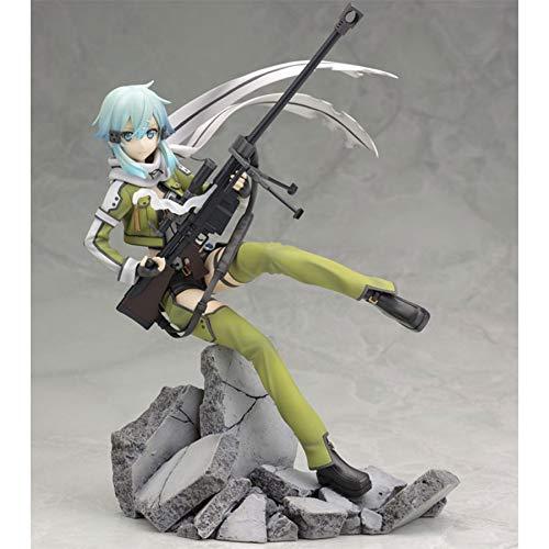 DADATU Sword Art Online II Anime Figure Asada Shino Sinon Action Figure Gioco Gun Gale Online GGO PVC Model 8 '' 20cm Collection Giocattoli