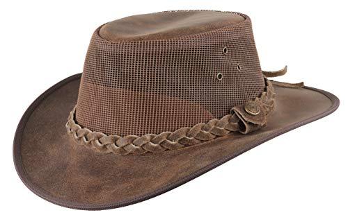 Scippis Hawick Lederen hoed Outdoor hoed, Australische hoed, Echt Leer