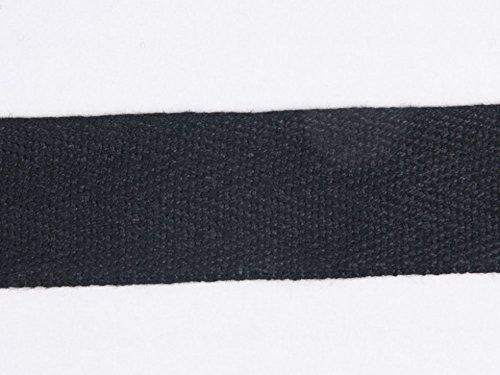 J A Milton Toile à chevrons Noir 25 mm 25 m