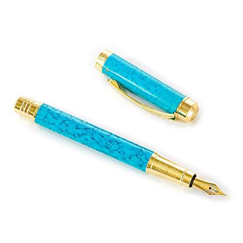 Viesky marmer zakelijke student 0,5 mm fijne nib kalligrafie school kantoorbenodigdheden schrijven gereedschap luxe mannen fontein pen Blauw