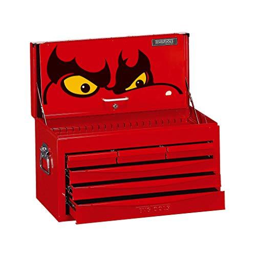 Teng Tools TC806SV Top Box mit 6 Schubladen und Kugellager-Auszügen, rot, 1340 x 457 x 440