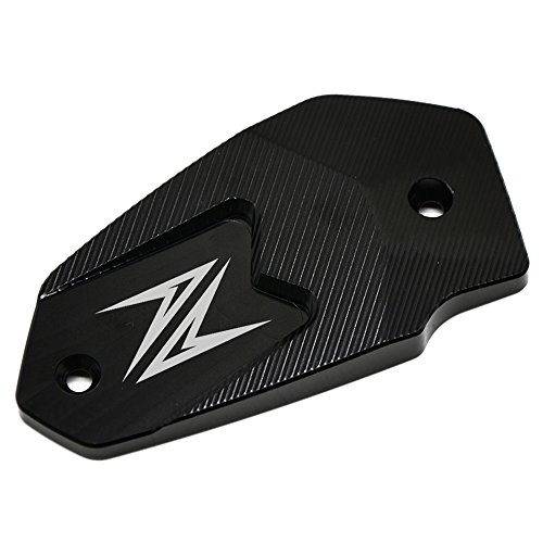 Motorrad Vorne Brems Flüssigkeit Sbehälter Deckel für Kawasaki Z900 2017 Z800 2013-2016 Z650 2017 Versys650 2007-2017 ER6N 2009-2016 ER6F 2009-2016 Ninja650 (Schwarz)