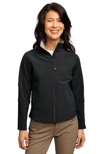 Port Authority® Ladies Glacier® Soft Shell Jacket. L790 Black/Chrome 4XL