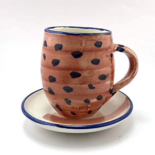 Taza de Café/Té y plato de cerámica 100% handmade,realizado por A.R