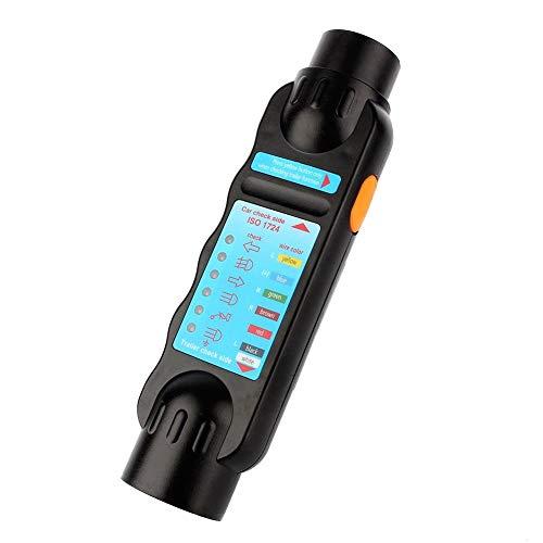 Outbit 7 Way Trailer Tester - 1 PC von 7Pin 12V Auto Abschleppwagen Anhänger Steckdose Verbindung Tester Diagnose-Tool Schwarz.