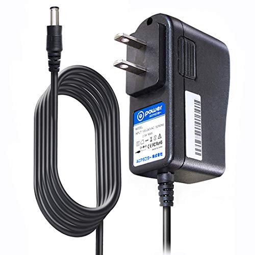T POWER 9V 1A AC Adapter Compatible with Guitar Effect Pedal w,Tip Size:5.5mm,2.1mm Inner Negative Center tip fits Zoom Roland Behringer Boss Digitech Jim Dunlop Ditto Looper PolyTune Donner Dyna