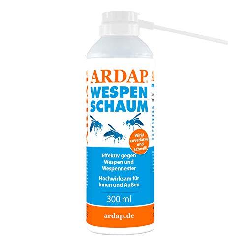 ARDAP Wespenschaum-Spray 300ml inkl. Sprührohr - Mit Sofort- & Langzeitwirkung zur Bekämpfung von Wespen, Wespennestern & weiteren Schädlingen