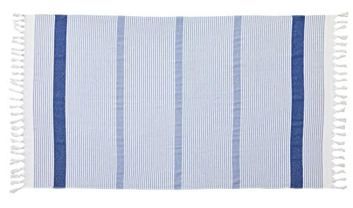 Blanc des Vosges Drap de Piscine Plein sud Bleu Royal 100 x 180 cm Eponge 100% Coton 320 GR