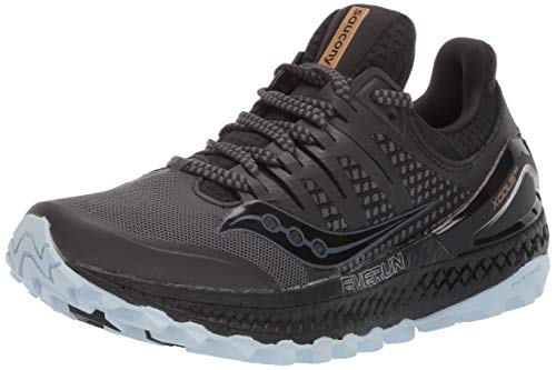 Saucony Women's Xodus ISO 3 Trail Running Shoe, Grey/Black, 8.5 M US