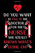 Do You Want To Talk To The Doctor. Or The Nurse Who Actually Knows What's Going On: A Lined Ruled Paper Composition Book Journal for Nurses, RN's, ... Week Gifts for Her. 110 Story Paper Pag