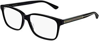Gucci Men's Eyeglasses Web GG0530O 0530/O 004 Black/Crystal Optical Frame 57mm